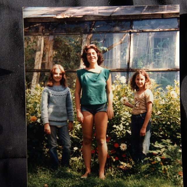 I could use some spring and summer soon, so here is this week's #TBT. Me hanging out with Dani and Taura in the flowers outside the green house. Obviously we all were experiencing the weather differently.