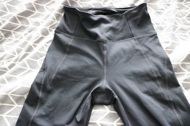 Front of leggings with side seams