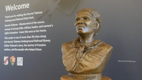 Photo of Harriet Tubman bust at Harriet Tubman Underground Railroad State Park and Visitor Center