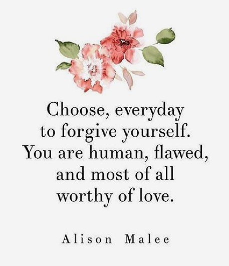 Quote forgive yourself - Alison Malee