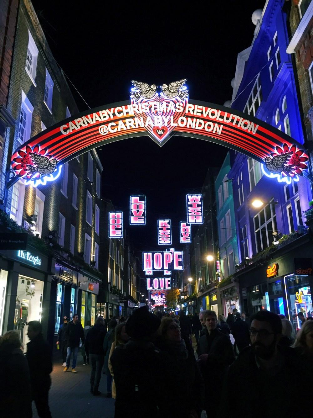 11 Dec 2016: Christmas Lights @ Carnaby Street | London, England