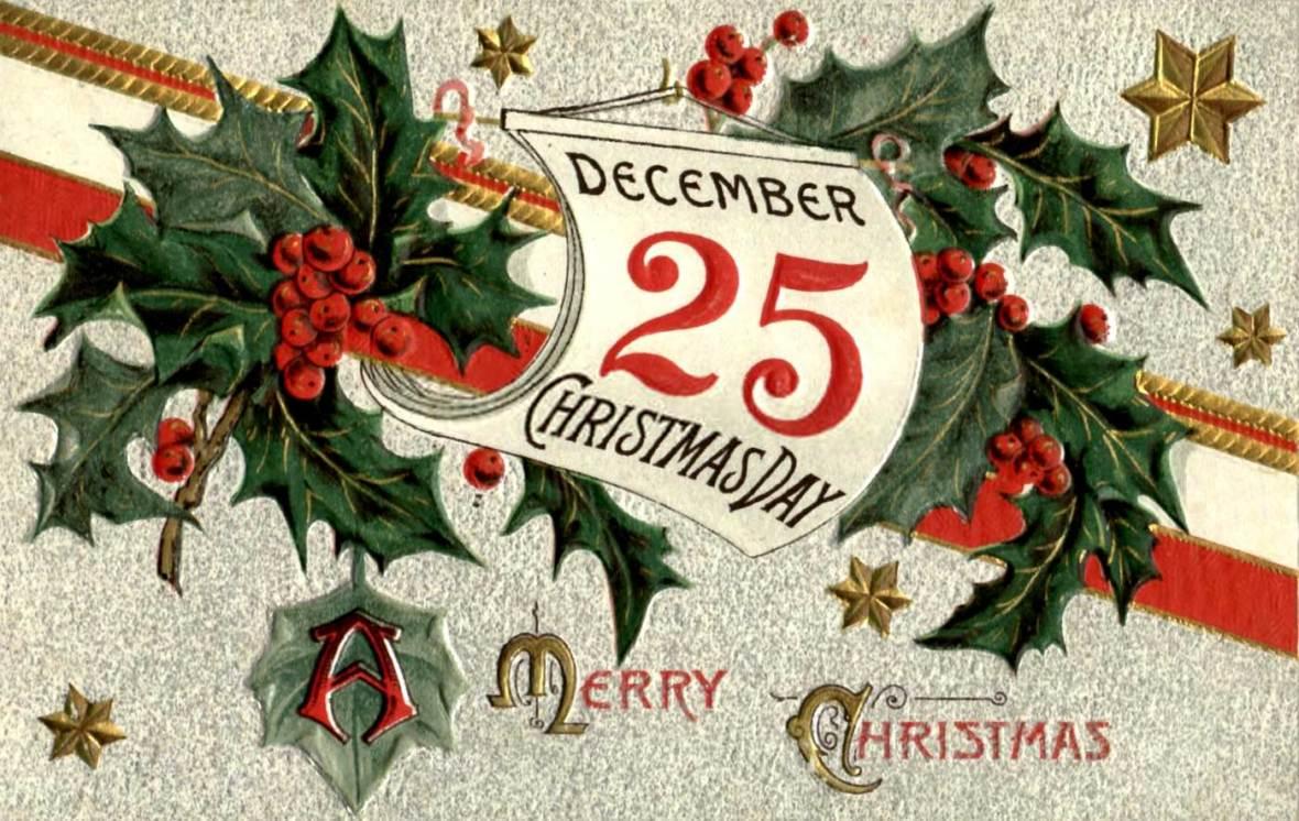 Vintage Calendar Page Christmas Card | Flickr