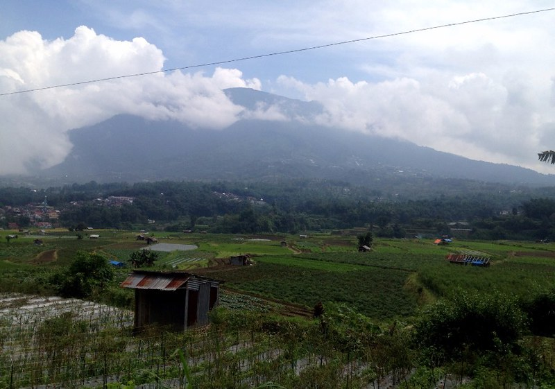 mount marapi from koto baru