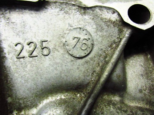 Transmission Case Manufacture Date (09/1976)