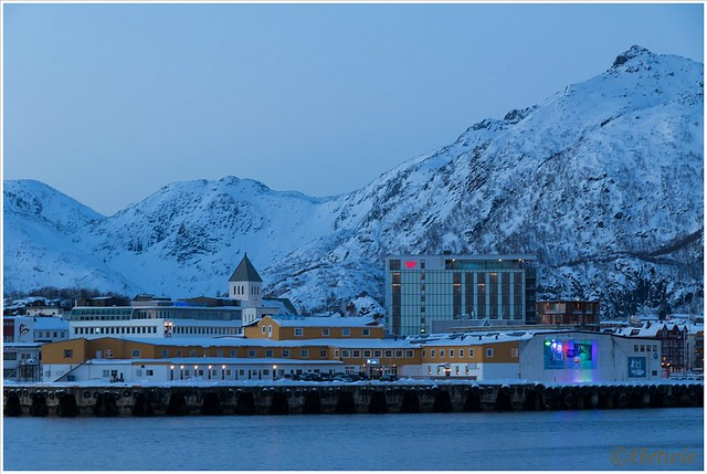 zicht op ons hotel van Svinøya.
