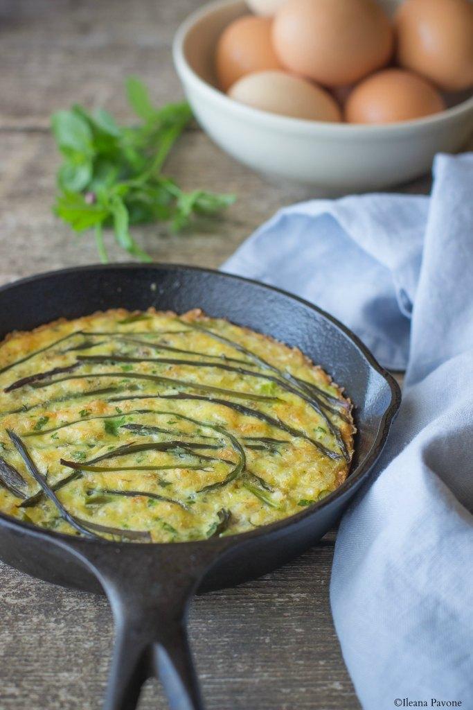 Frittata di riso e asparagi