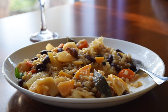 Eat Barley Stew with Root Vegetables and Sausage