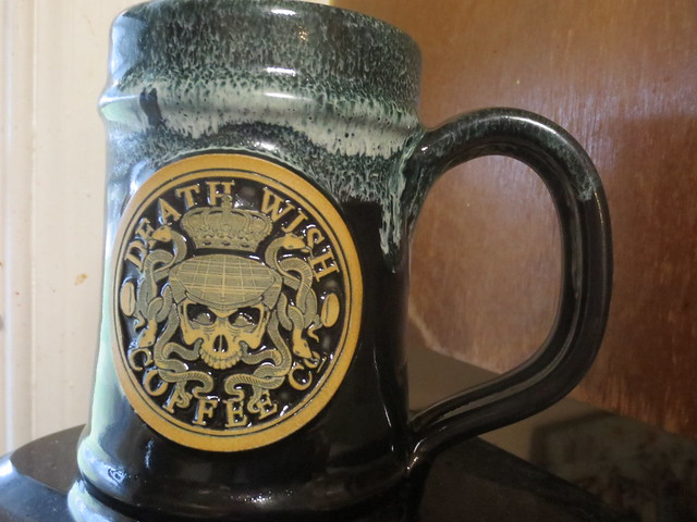 Death Wish Coffee 2017 St. Patricks Day Special Edition Mug by Deneen Pottery