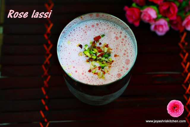 Rose-lassi recipe