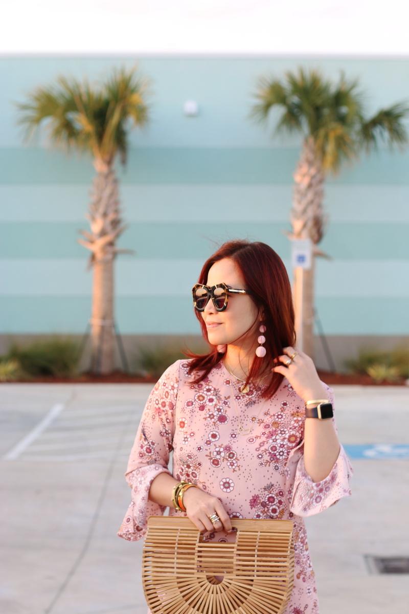 karen-walker-sunglasses-pink-dress-3