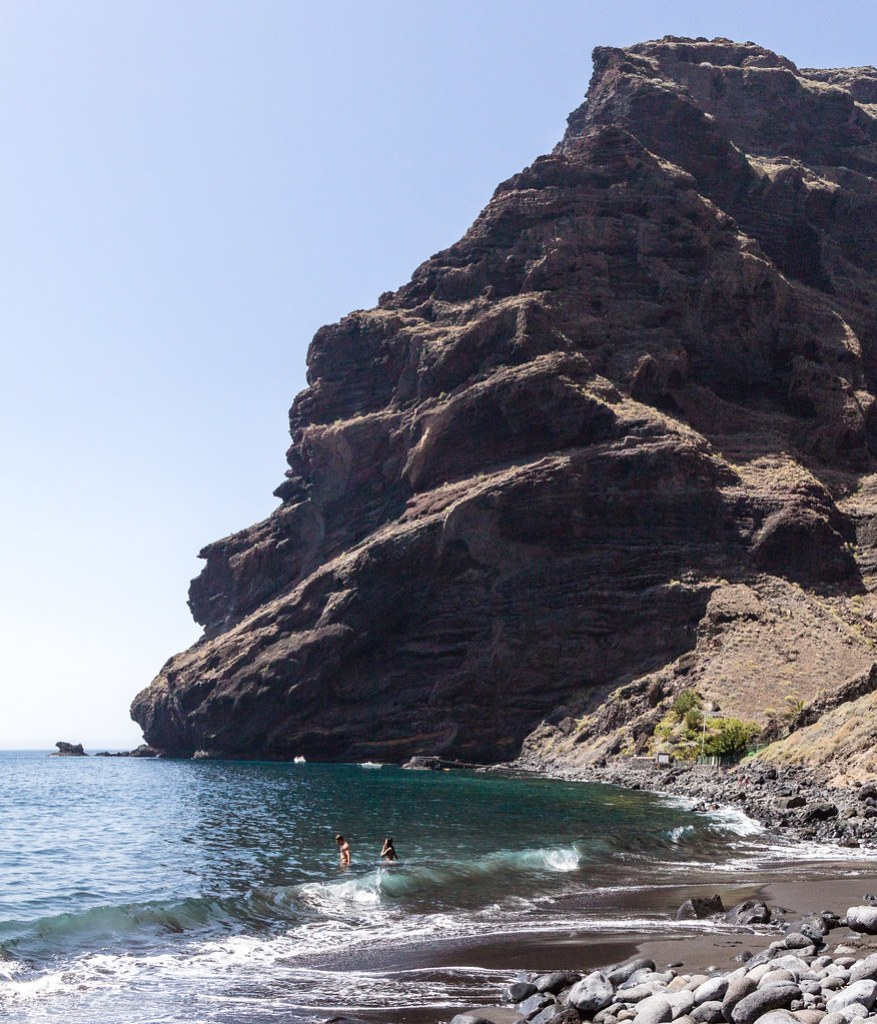 The beach at the end of Masca Gorge.