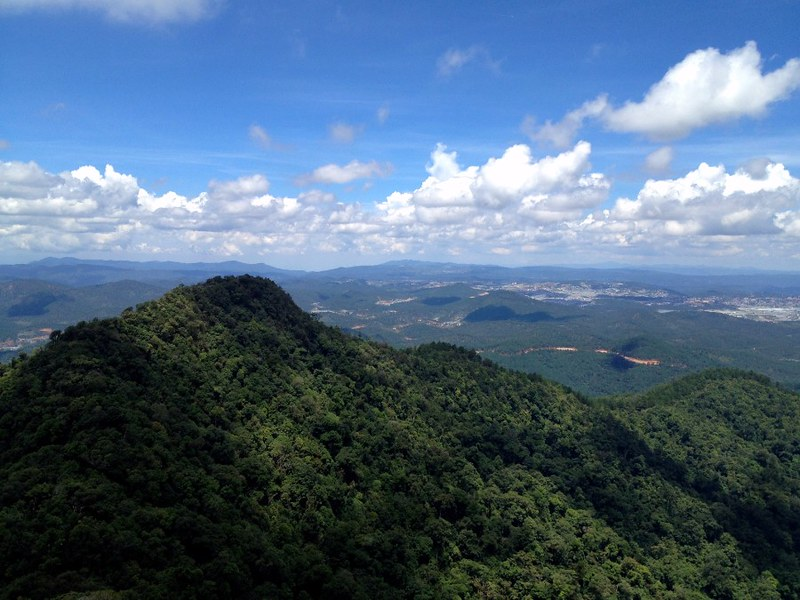 amazing view of jungly mountains in lang biang, da lat, vietnam