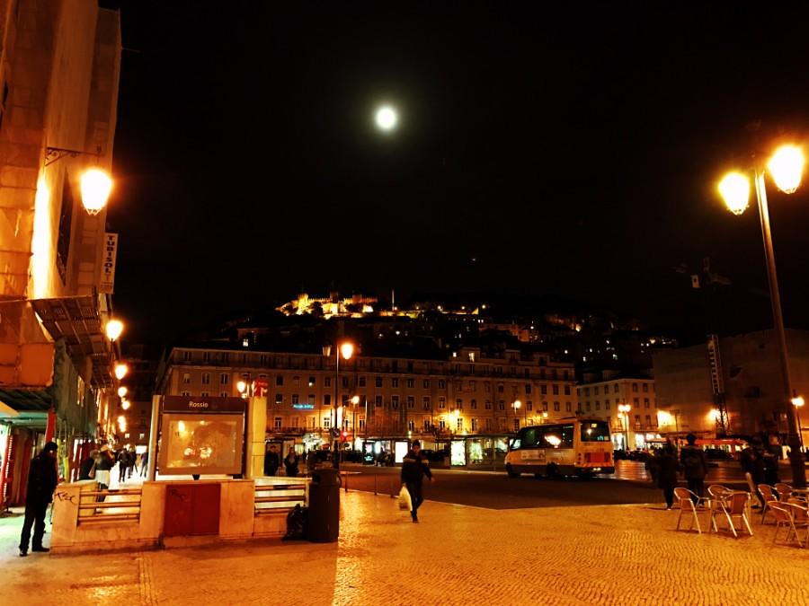 full moon over lisbon