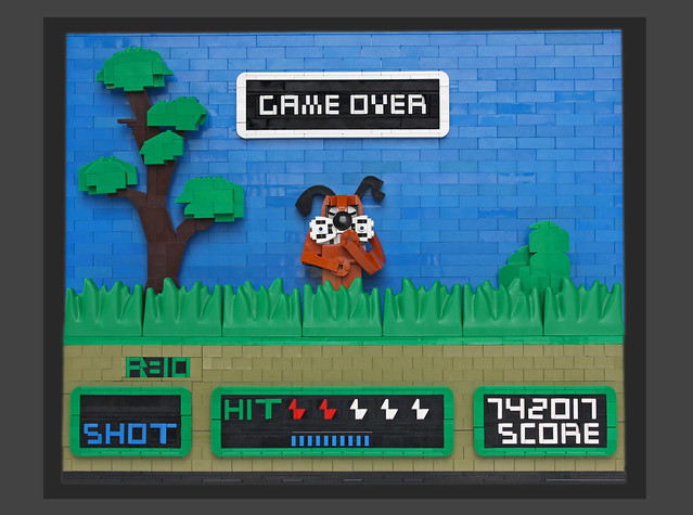 Its Game Over For Player 1 In This Game Of Duck Hunt