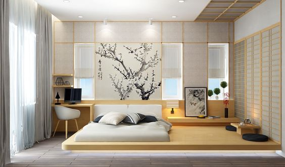 Stunning Japanese Bedroom Design Ideas 8