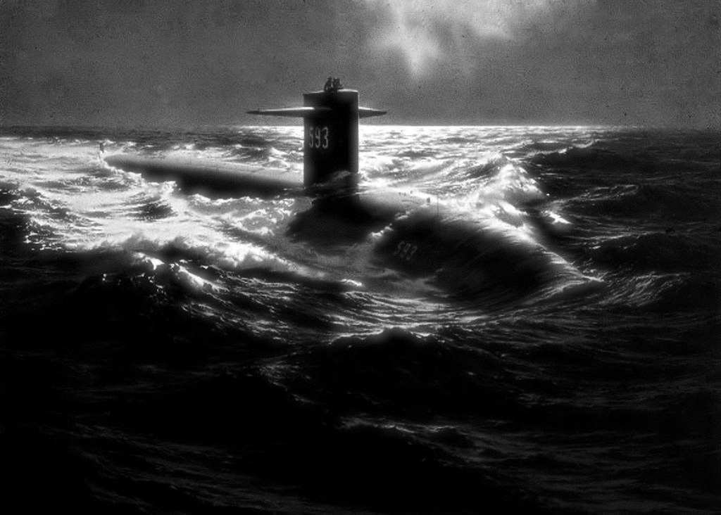 U.S.S. Thresher, SSN593, On Eternal Patrol; Lost April 10, 1963 with a crew of 129; Rest in Peace, Shipmates