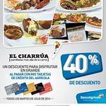 descuento EL CHARRUA restaurante especialidades en carnes - 22jul14