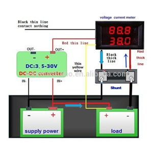voltmeter and ammeter 5 wires using shunt wiring diagram