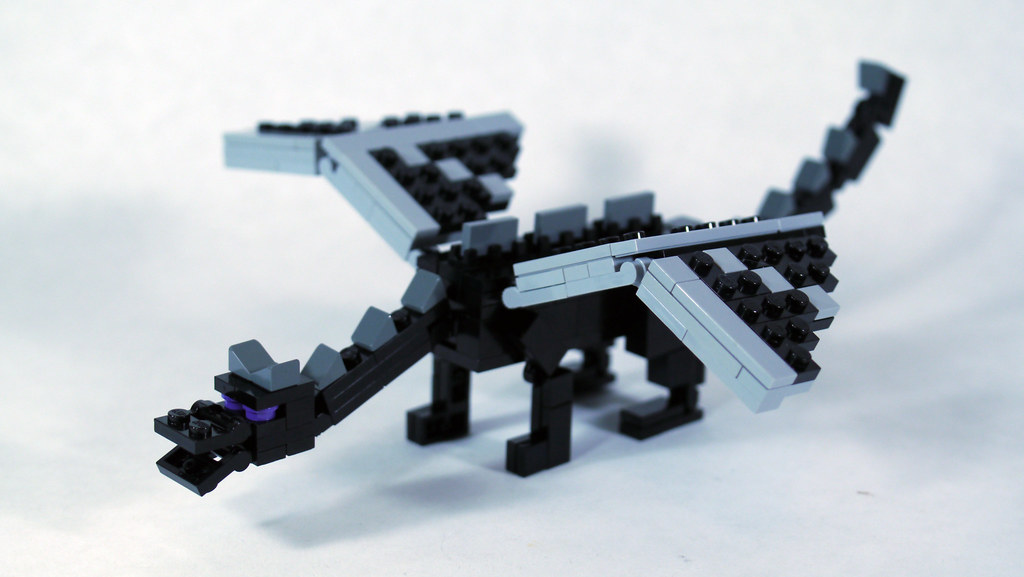 LEGO Minecraft Ender Dragon Minifig Scale See How To