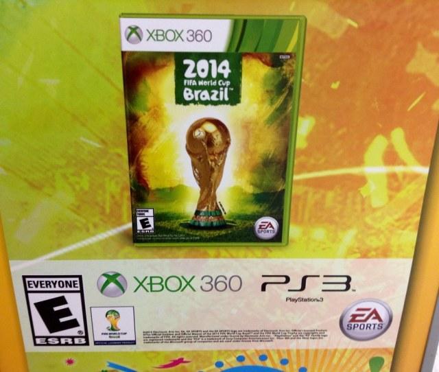 2014 Fifa World Cup Futbol Soccer Video Game Display At Walmart Stores Ea Sports X