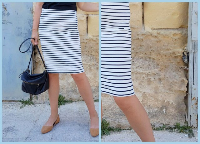 striped pencil skirt (collage1)