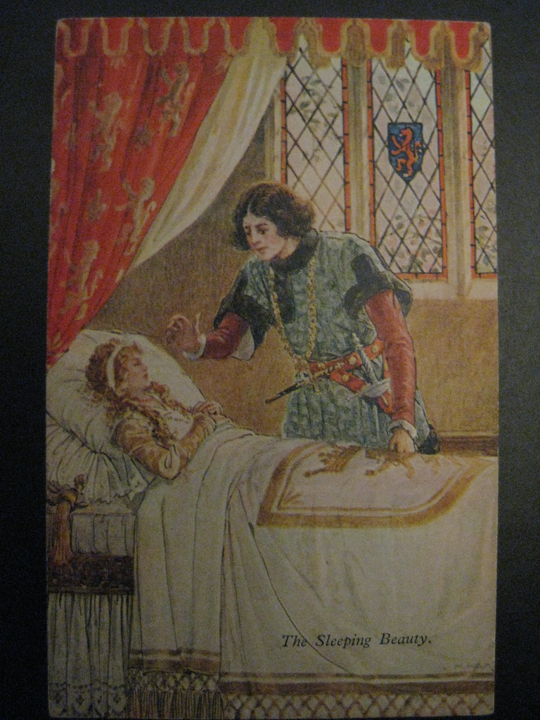 The Sleeping Beauty An Art Nouveau Postcard Illustrated