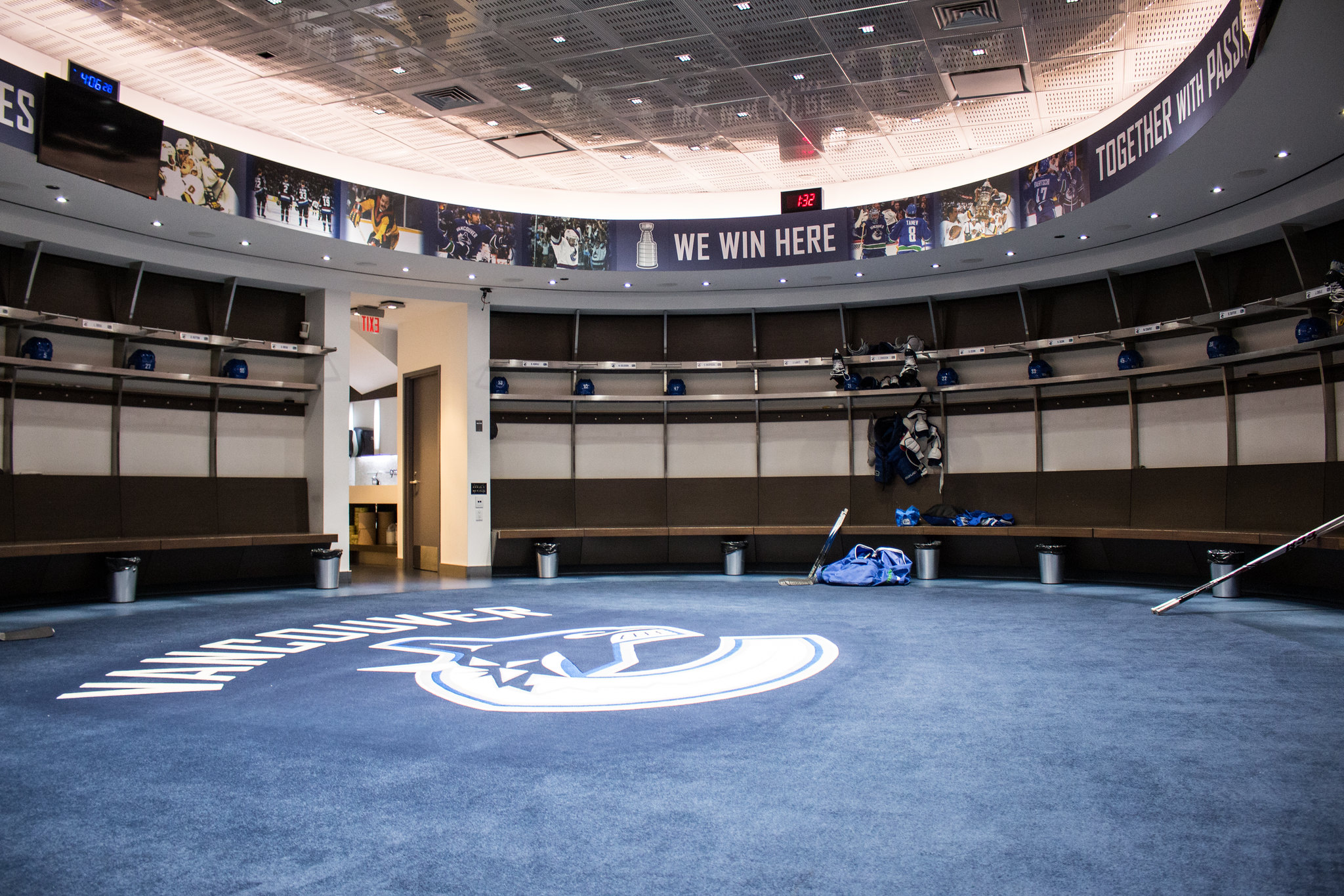 Vancouver Canucks Dressing Rogers Arena
