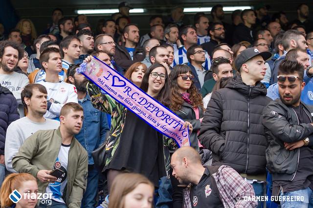 La afición en el Dépor vs Málaga