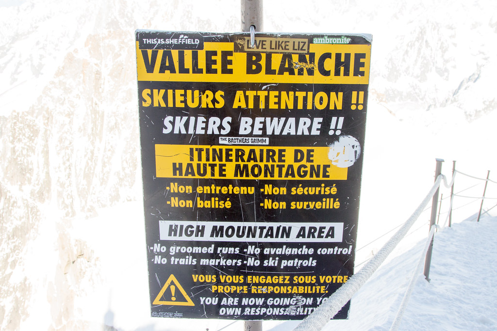 Vallee Blanche Warning