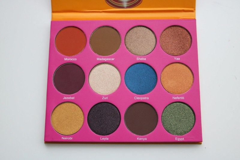 The Nubian 2 palette, open