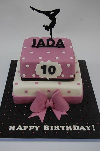 Jada S Gymnastics Cake Beautiful Birthday Cakes