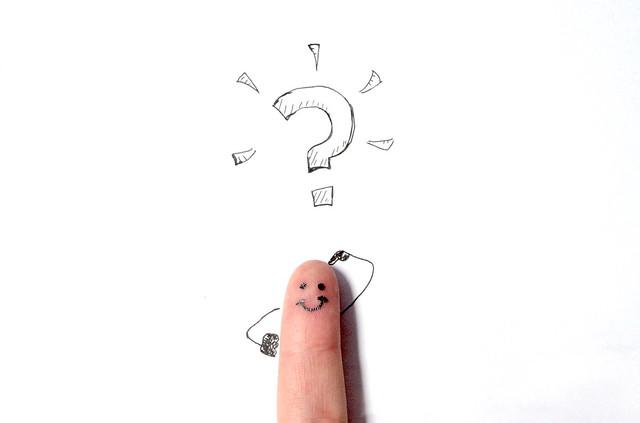 Question Finger 6