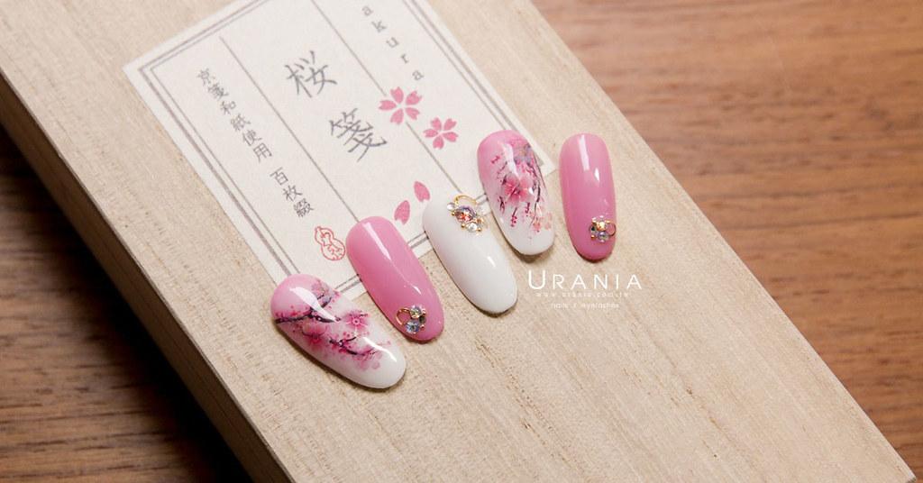 ♥ 櫻花樹下的約定!隨風飄落的櫻花指甲 1