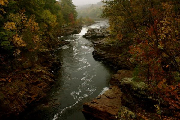Rockwell Falls on a Rainy Day