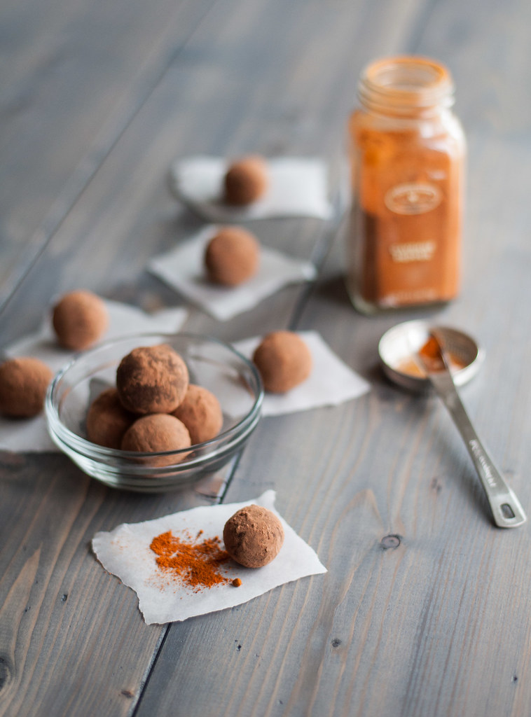 Simple spicy chocolate truffles