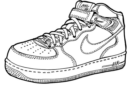 Nike Air Force One Mid Drawing My Drawing Of A Nike