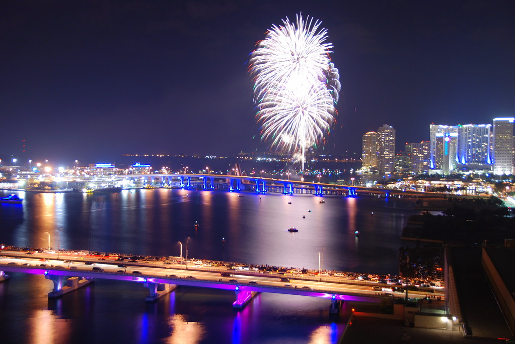 Happy New Year from Miami    Miami put on a good fireworks s      Flickr by James Good Happy New Year from Miami    by James Good