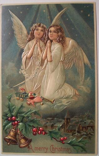 Vintage Christmas Postcard Angels Dave Flickr