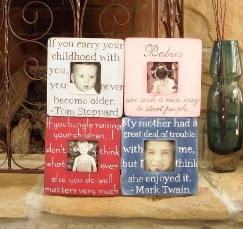 hand painted picture frames with quotes | secondtofirst.com