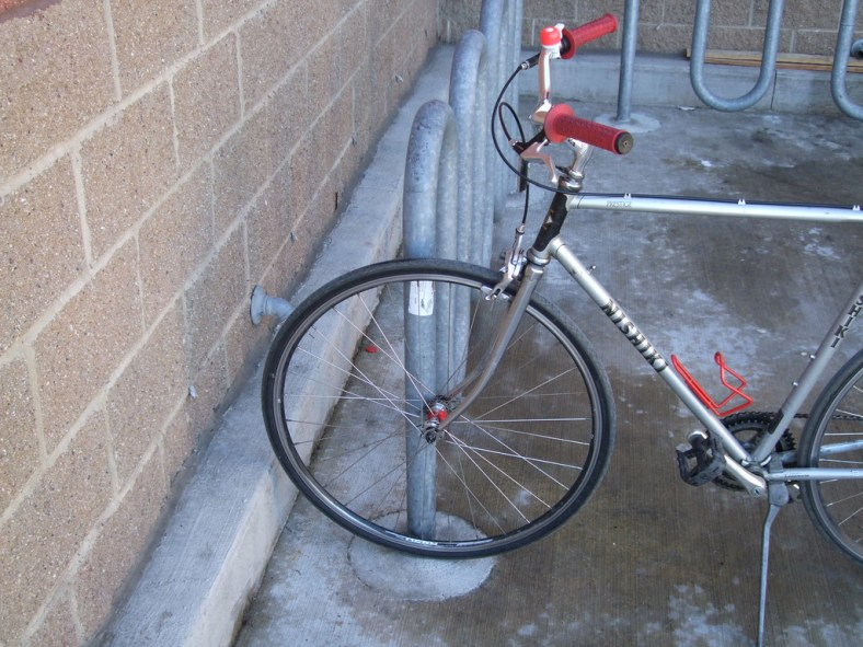 Bike parking at Home Depot