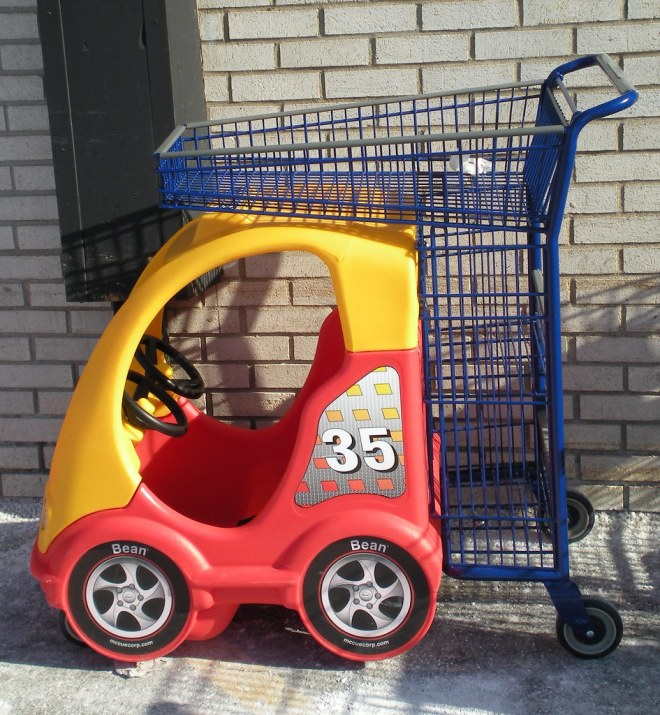 Image result for race car shopping cart