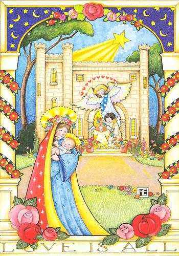 Mary Engelbreit Madonna And Child Christmas Card Mary