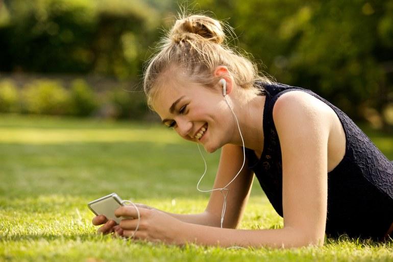 Image result for earphones girl