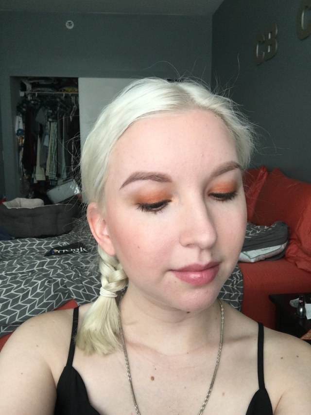 Look with orange shades