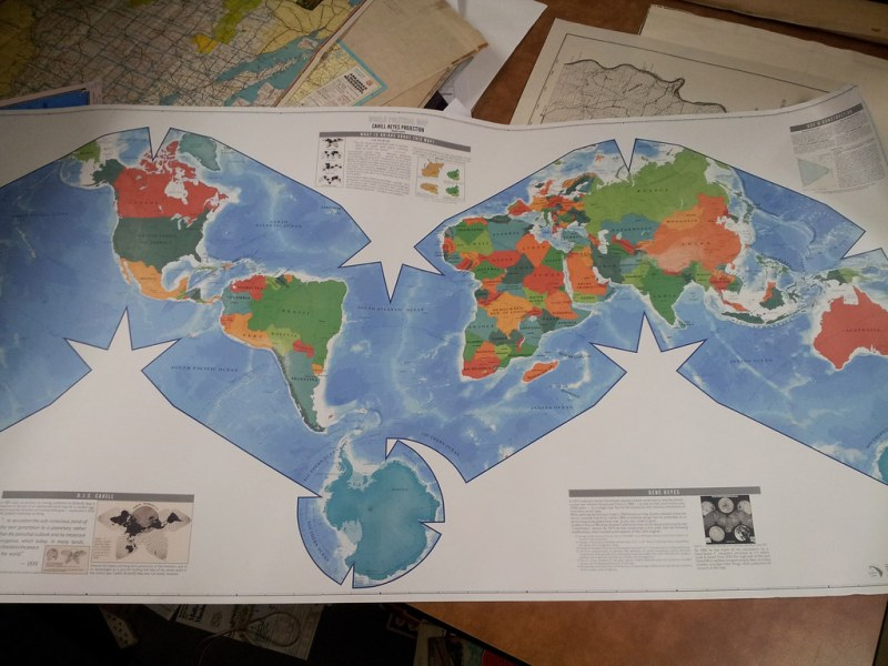 World political map  Cahill Keyes Projection  Atlantic cen      Flickr     World political map  Cahill Keyes Projection  Atlantic centered   by  American Geographical