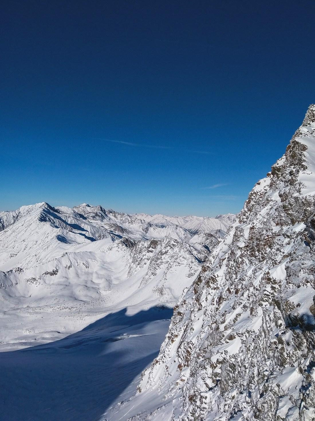Solden Mountain Top Views - Skiing