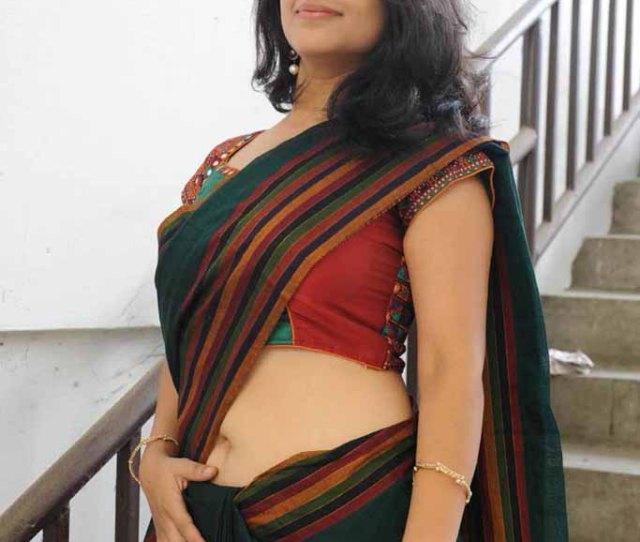 Supriya Hot Navel Exposing Saree In Sasesham Press Meet Events By Blore Karthik