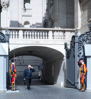 Swiss guards at work