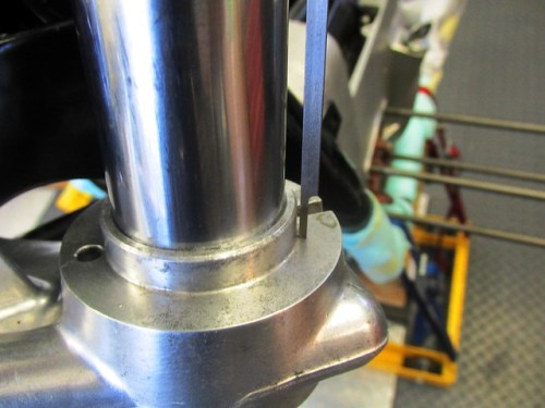 Measuring Fork Tube Height From Bottom Triple Clamp