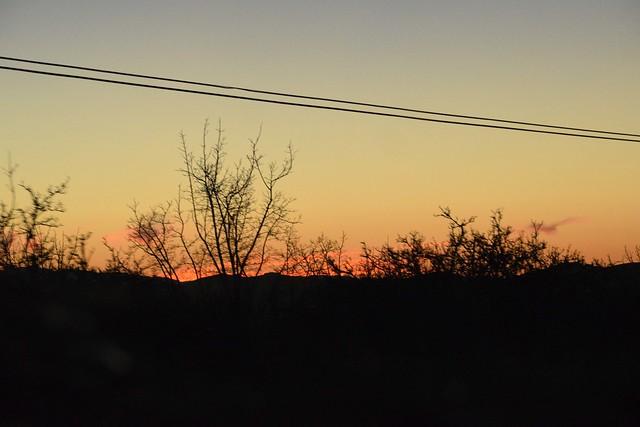 Sunset near Hollister California